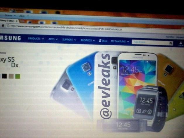 Samsung Galaxy S5 Dx Fot. evleaks /Komórkomania.pl