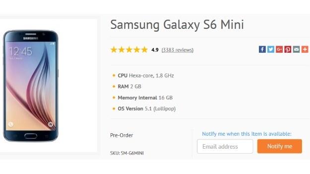 Samsung Galaxy S6 mini /materiały prasowe