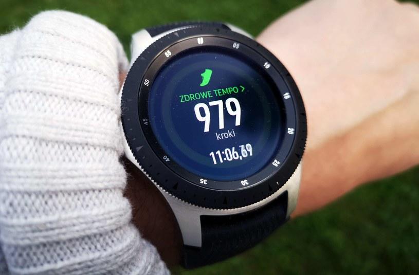 Samsung Galaxy Watch i jedna z funkcji pomagająca nam w utrzymaniu zdrowego stylu życia /INTERIA.PL