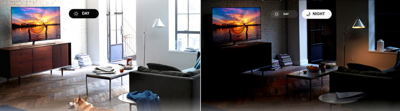 Samsung QLED TV - dwie pory dnia /materiały prasowe