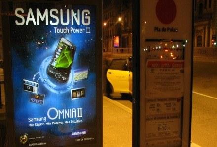 Samsung zadbał o to, aby całe miasto było oblepione plakatami koreańskich komórek /INTERIA.PL