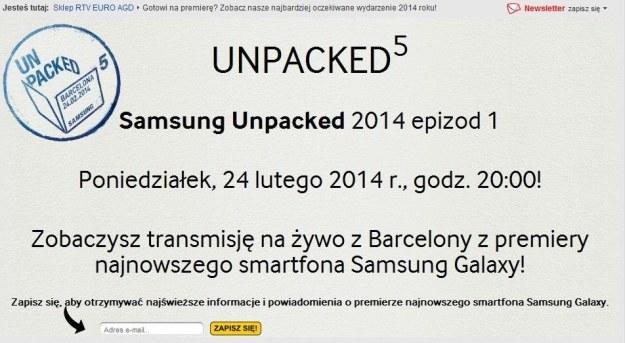 Samsung zaprasza na premierę Galaxy S5 /materiały prasowe