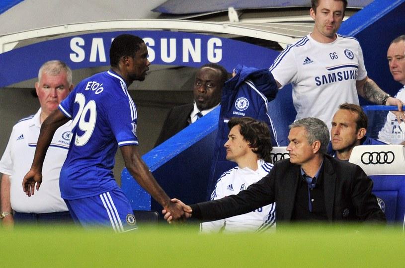 Samuel Eto'o i Jose Mourinho /AFP