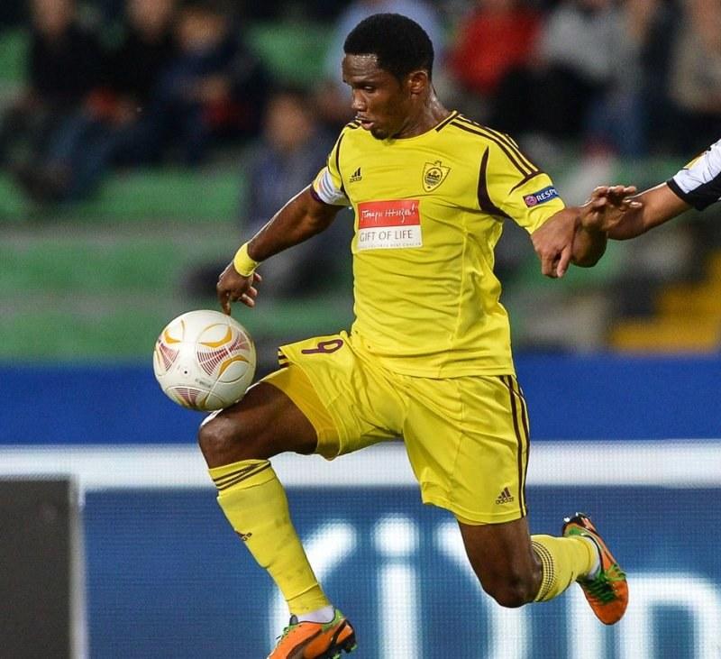 Samuel Eto'o, piłkarz Anży Machaczkała /AFP