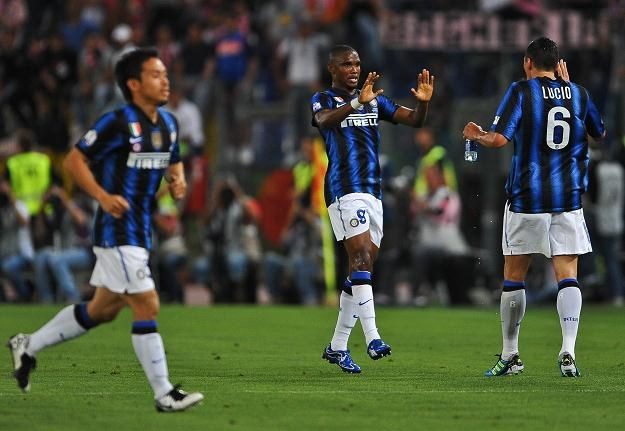 Samuel Eto'o strzelił dwa gole dla Interu w finale Pucharu Włoch /AFP