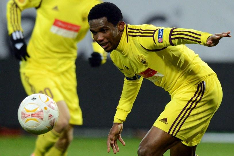 Samuel Eto'o w barwach Anży Machaczkała /AFP