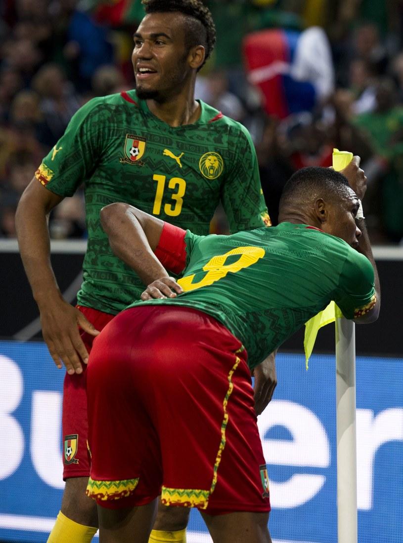 Samuel Eto'o w taki sposób fetował gola strzelonego Niemcom /AFP
