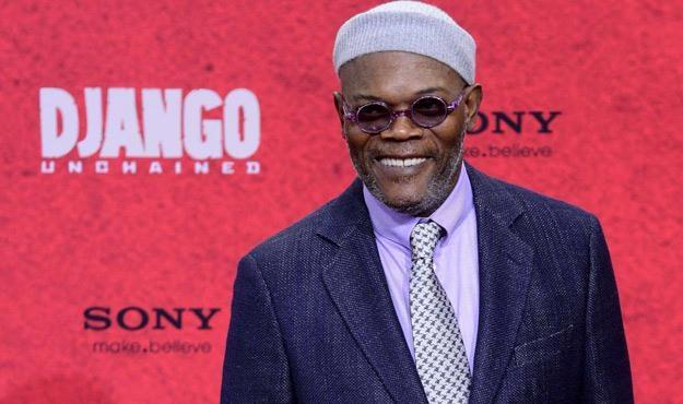 """Samuel L. Jackson na premierze filmu """"Django"""" /AFP"""