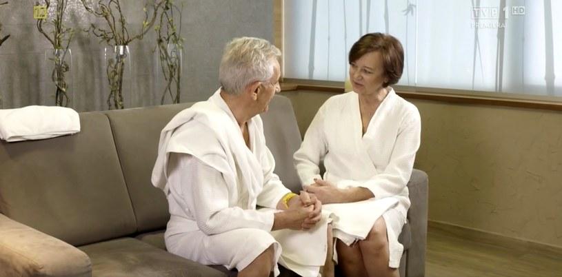 """""""Sanatorium miłości"""": Małgorzata i Ryszard na randce (screen z TVP) /materiały prasowe"""