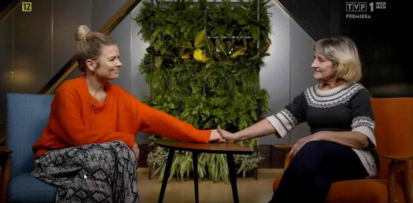 """""""Sanatorium miłości"""": Marta Manowska w rozmowie z Walentyną (screen z programu TVP) /materiały prasowe"""