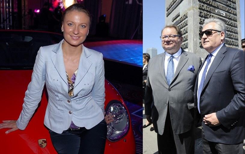Sandra Lewandowska i Kalisz z Kwaśniewskim /- /East News
