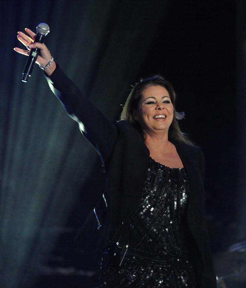 Sandra podczas koncertu w Polsce /Gerard /Reporter