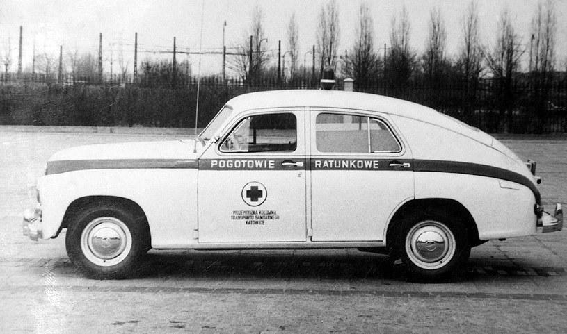 Sanitarka FSO Warszawa, lata 60. /zdj. zbiory Muzeum Ratownictwa /materiał zewnętrzny