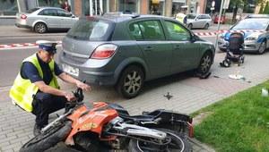 Sanok: 21-latek wjechał w pieszych motorowerem