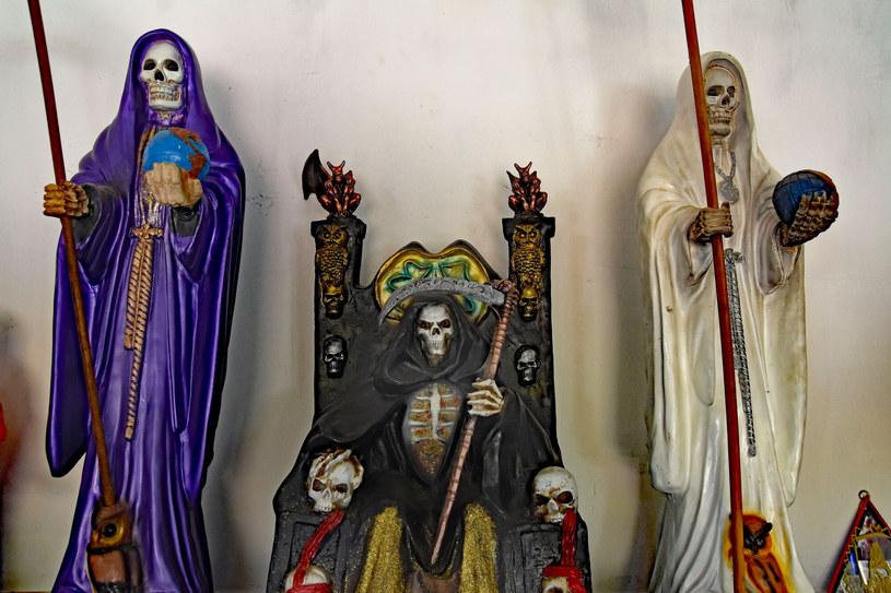 Santa Muerte cieszy się wielką populatnością w Meksyku /Teun Voeten/Sipa USA/East News /East News