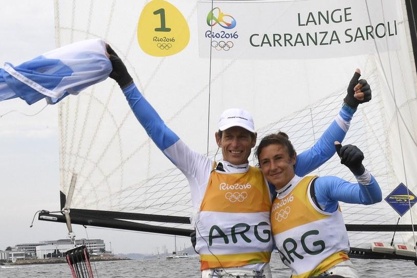 Santiago Lange i jego partnerka Cecilia Carranza Saroli sięgnęli po złoty medal olimpijski /William West /East News
