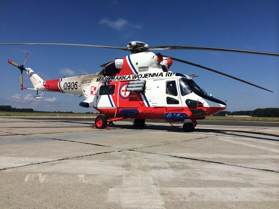 SAR z powietrza wspierają dwa śmigłowce oraz samolot patrolowy z Brygady Lotnictwa Marynarki Wojennej /Kuba Kaługa /RMF FM