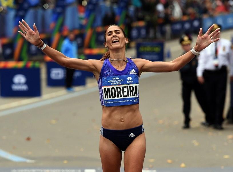 Sara Moreira - triumfatorka półmaratonu podczas ME w Amsterdamie /AFP