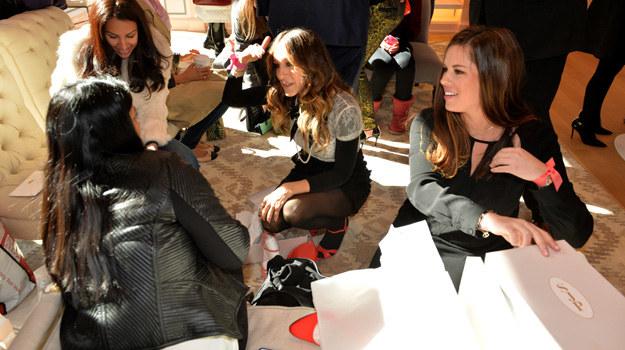 Sarah Jessica Parker podczas prezentacji swojej kolekcji w butiku Pop Up Shop. /Andrew H. Walker /Getty Images