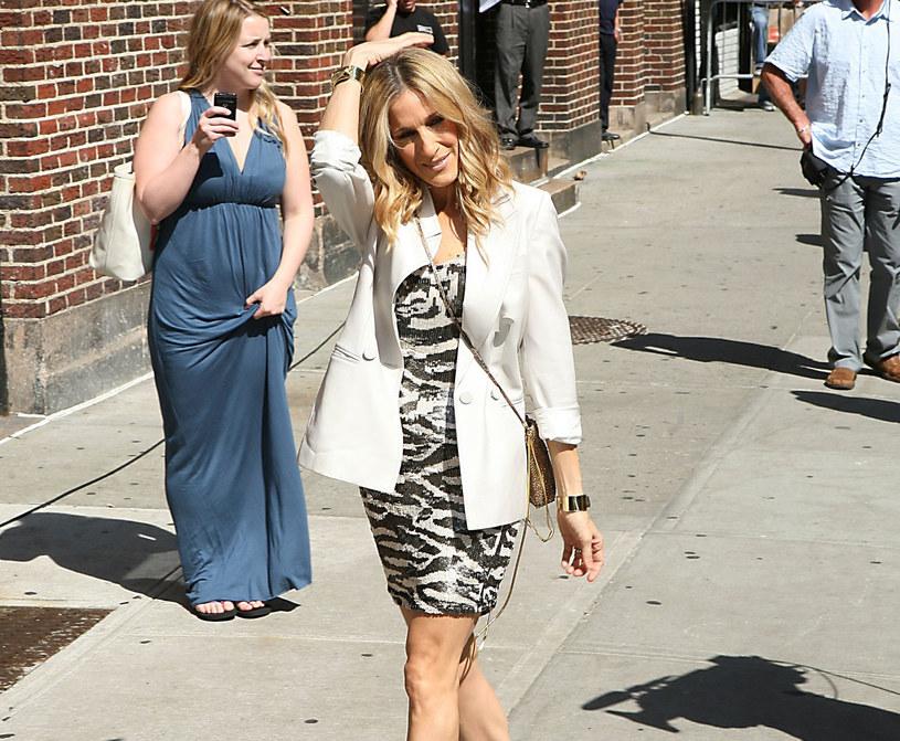 Sarah Jessica Parker w modnej w tym sezonie zebrze /East News