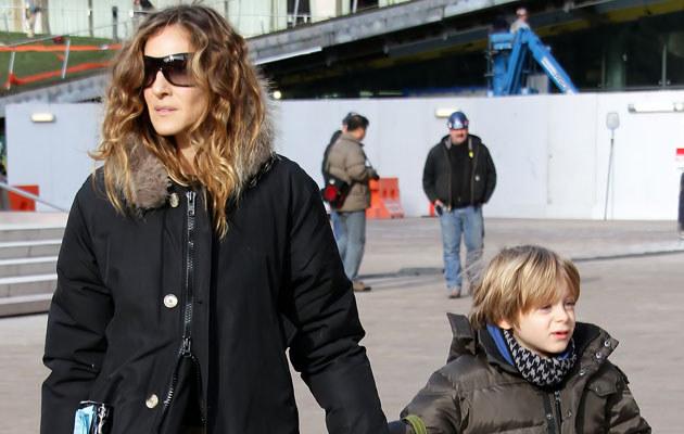Sarah Jessica Parker z synem Jamesem  /Splashnews
