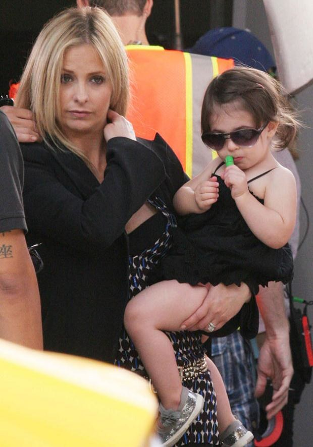 Sarah z córką Charlotte  /Splashnews