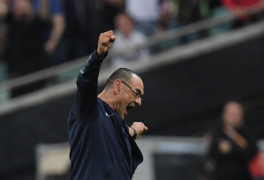 Sarri podpisał trzyletni kontrakt z Juventusem /ARNE DEDERT  /PAP/DPA