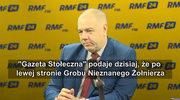 Sasin: wygląda na to, z bardzo dużą dozą prawdopodobieństwa, że pomnik prezydenta Lecha Kaczyńskiego w tym terminie (10 kwietnia) nie stanie, że będziemy w stanie w tym terminie wmurować być może kamień węgielny