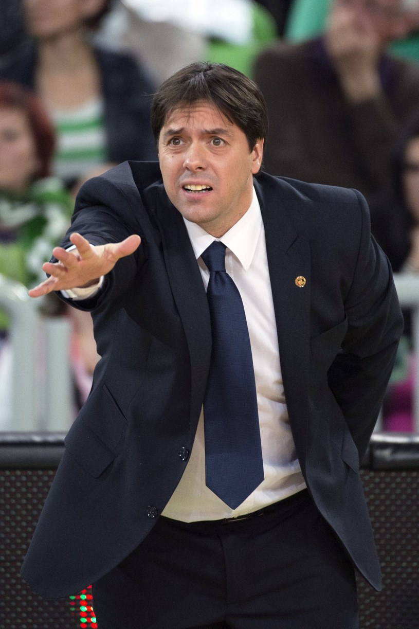 Saso Filipovski, trener reprezentacji Słowenii /Jure MAKOVEC /AFP