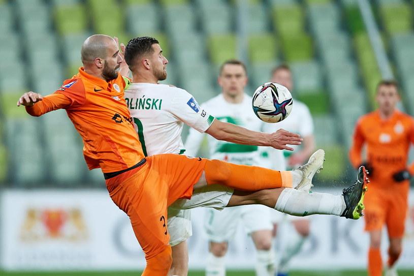 Sasza Balić w meczu z Lechią Gdańsk /Adam Warżawa /PAP