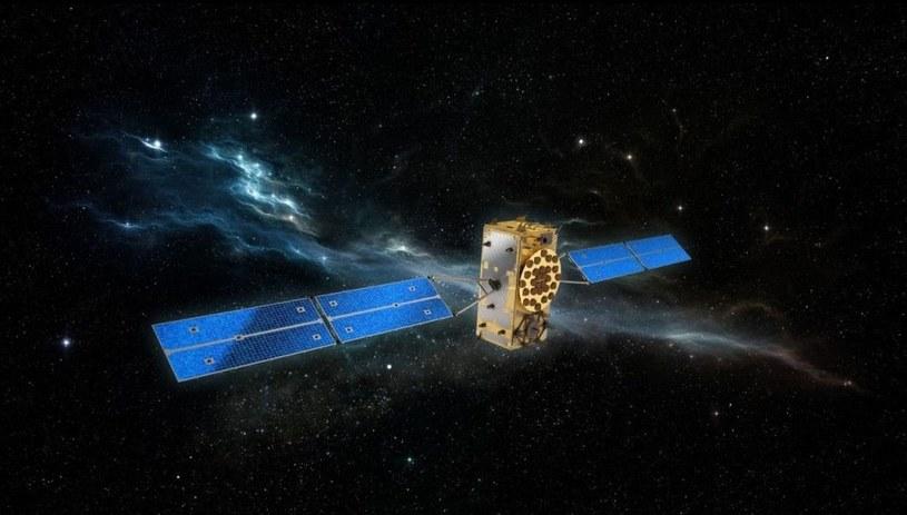 Satelita systemu Galileo. Ilustracja: ESA /materiały prasowe