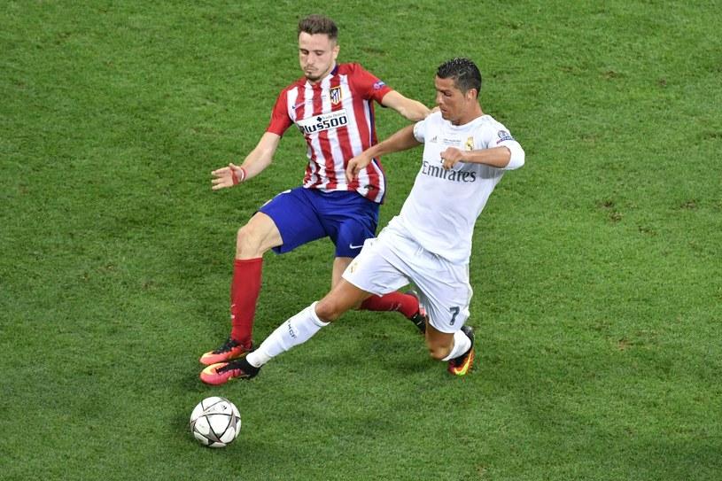 Saul (z lewej) podczas sobotniego finału Ligi Mistrzów /AFP