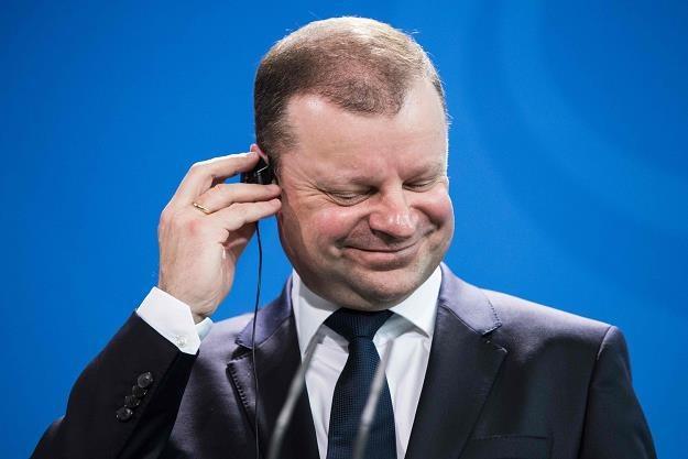 Saulius Skvernelis, premier Litwy /AFP