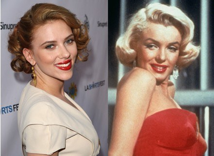 Scarlett Johanson i Marylin Monroe Fot. Getty Images, Bauer /INTERIA.PL