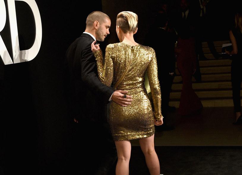 Scarlett Johansson z mężem Romainem Dauriacem /Michael Buckner  /Getty Images