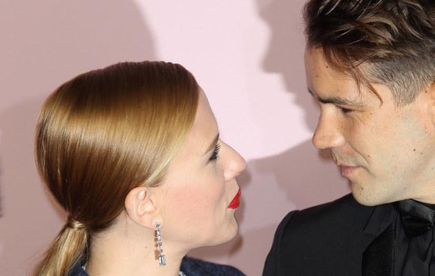 Scarlett Johansson z narzeczonym /Marc Piasecki /Getty Images
