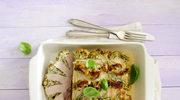 Schab faszerowany serem i ziołami