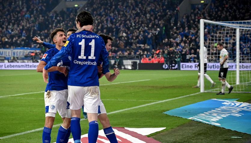 Schalke 04 - Borussia M'gladbach 2-0 w 18. kolejce Bundesligi