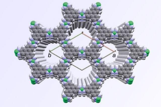 Schemat dwuwymiarowej struktury plastra miodu, w którą organizuje się nowo opracowany materiał /materiały prasowe