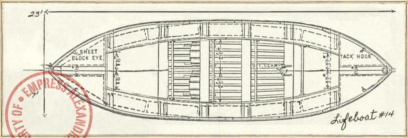 Schemat łodzi ratunkowej /INTERIA.PL