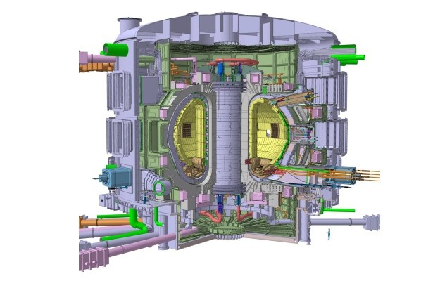 Schemat tokamaka ITER.  Fot. ITER /materiały prasowe