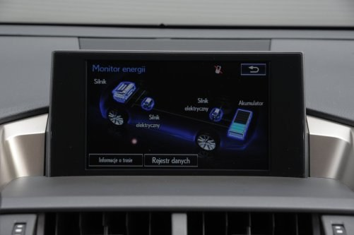 Schemat układu hybrydowego NX-a. Akumulatory umieszczono z tyłu, pod kanapą. /Motor
