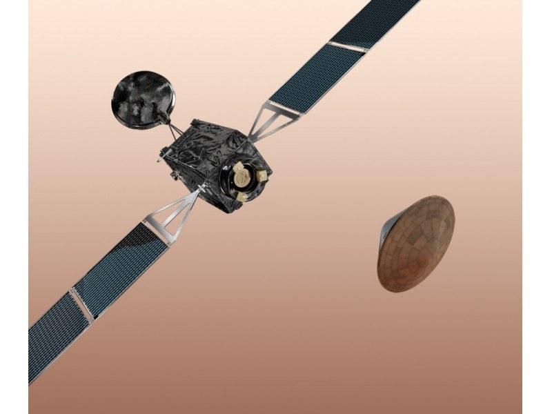 """""""Schiaparelli"""" sprawdzi działanie europejskich technologii potrzebnych do kontrolowanego miękkiego lądowania na powierzchni Marsa /materiały prasowe"""
