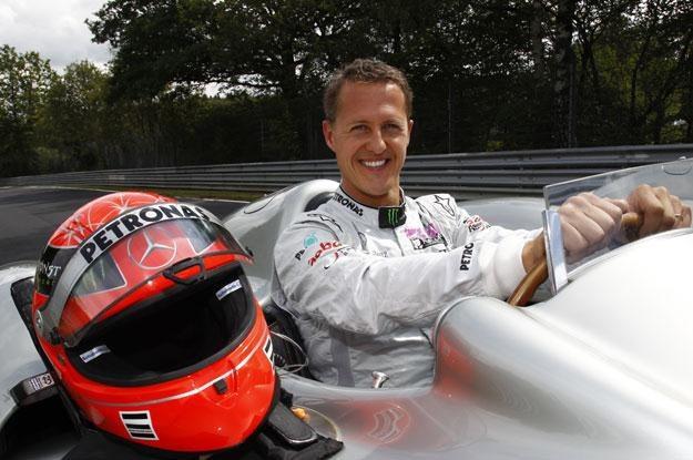 Schumacher na Nordschleife w Mercedesie  W 196 /