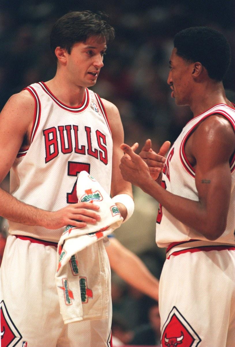 Scottie Pippen (z prawej) i Toni Kukocz /Getty Images