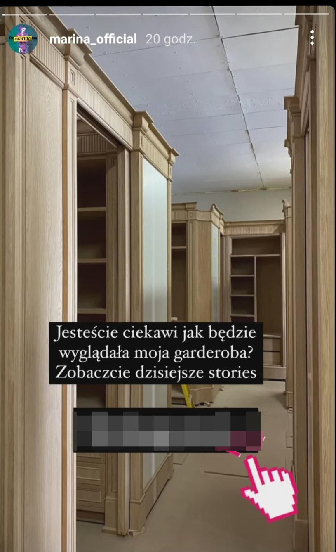 Screen z Instastory Mariny Łuczenko-Szczęsnej/ @marina_official /Instagram /Instagram