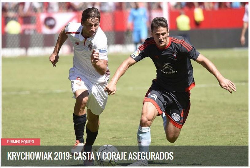 Screen z oficjalnej strony Sevilla FC. Źródło: http://sevillafc.es/ /Internet