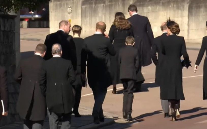 Screen z pogrzebu księcia Filipa. BBC /YouTube.com
