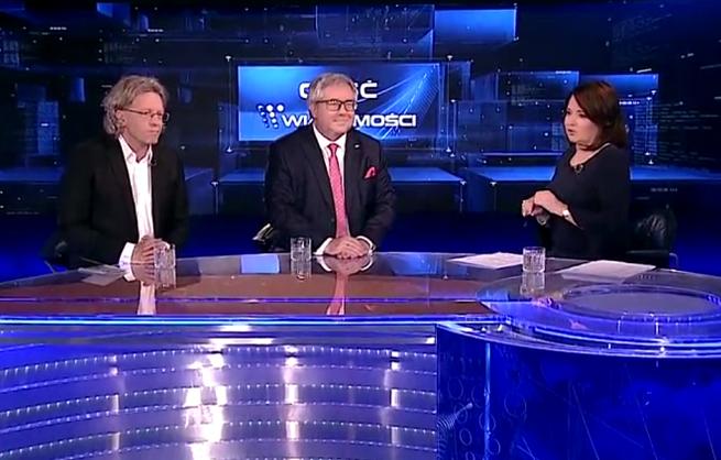 """Screen z programu """"Gość Wiadomości"""" (Screen: vod.tvp.pl) /TVP /materiał zewnętrzny"""