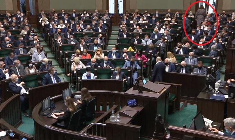 Screen z transmisji obrad Sejmu /